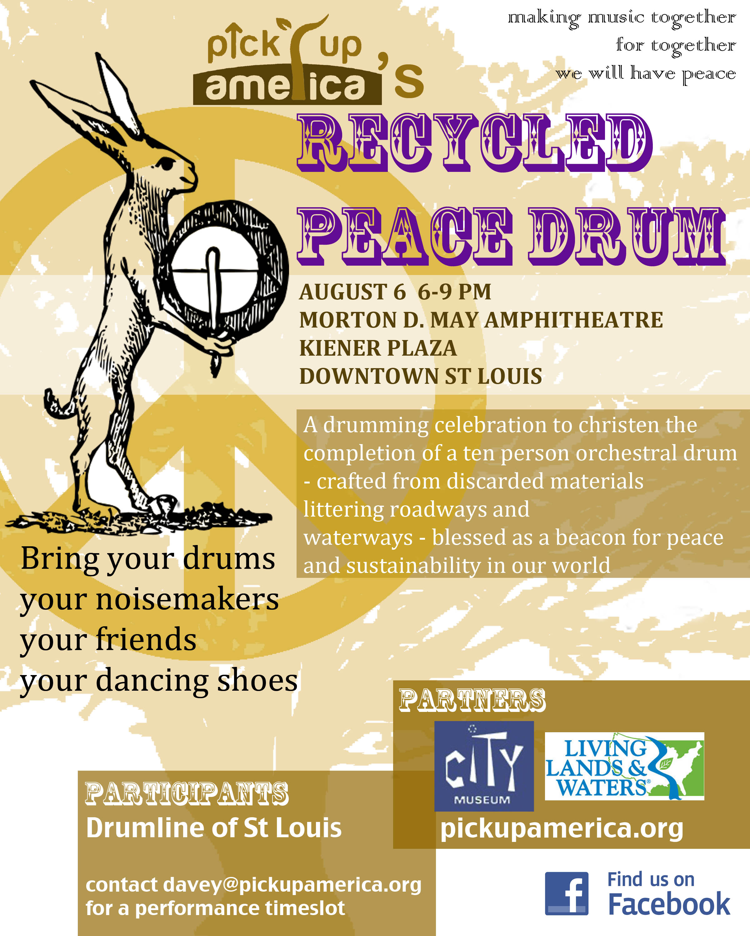 Recycled Peace Drum Flyer Lily Berman